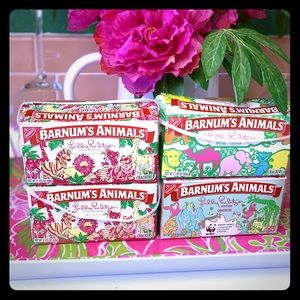 4 Lilly Pulitzer animal cracker boxes!